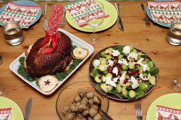 Tryckkokt, därefter grillad julskinka