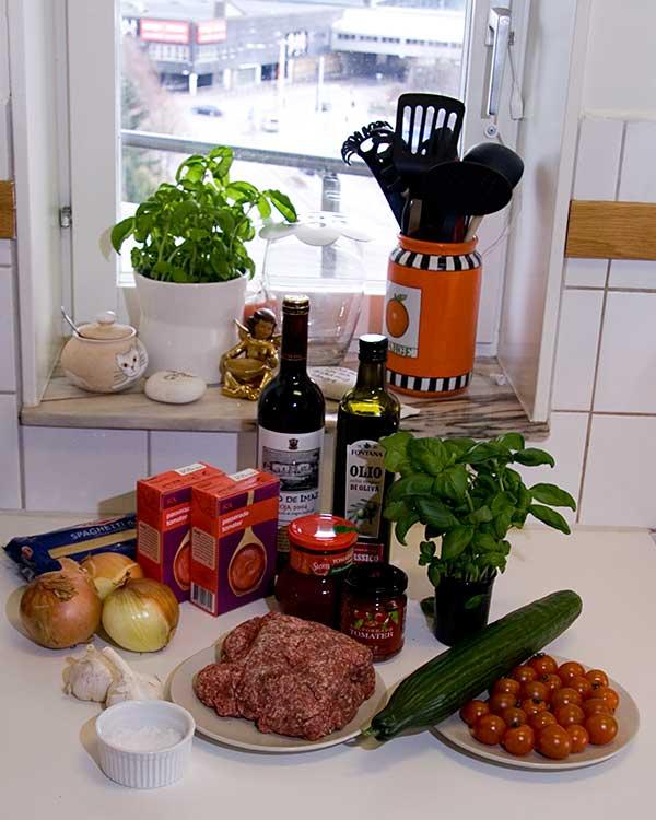 Ingredienserna i Dan´s Köttfärssås
