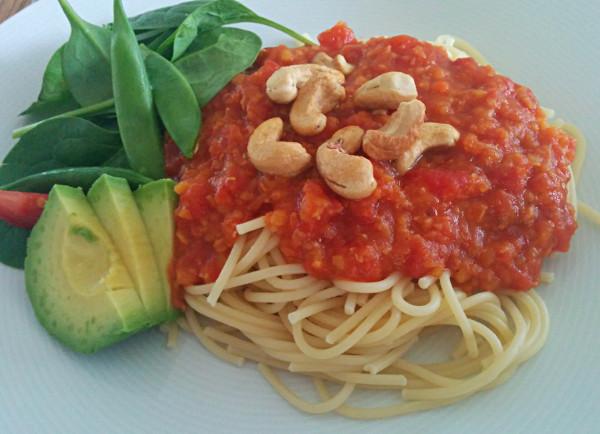 Lins- och tomatsås